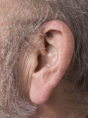 older person ear